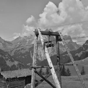 Schröcken, Alpe, Materialseilbahn / Franz Beer von Beer, Franz