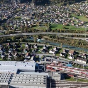 Bludenz - Gleisanlagen, Bürs, Getzner Werkstoffe, Lünersee Fabrik von Amt der Vorarlberger Landesregierung Abteilung Raumplanung