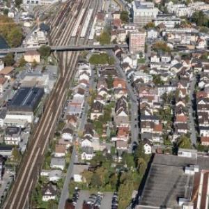 Bludenz - Bahnhof, Umgebung von Amt der Vorarlberger Landesregierung Abteilung Raumplanung