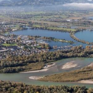 Bregenz - Bregenzerache - Mündung von Amt der Vorarlberger Landesregierung Abteilung Raumplanung