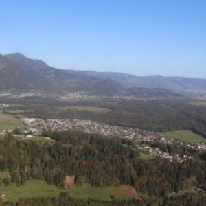 Feldkirch-Tosters, Tostner Burg, Blick Nofels von Amt der Vorarlberger Landesregierung Abteilung Raumplanung