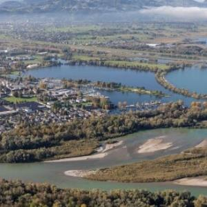 Hard, Mündung Bregenzerache von Amt der Vorarlberger Landesregierung Abteilung Raumplanung