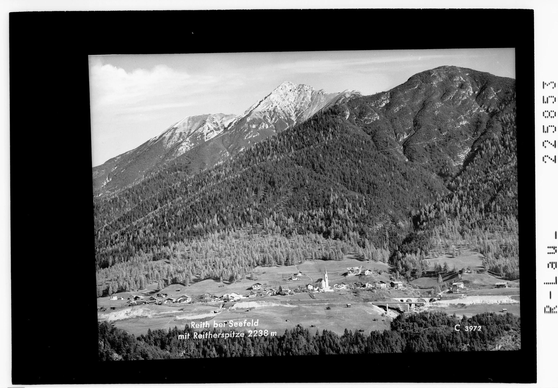 Reith bei Seefeld mit Reitherspitze 2238 m von Wilhelm Stempfle