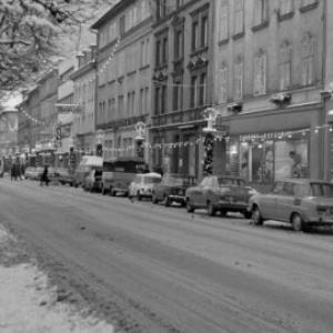 Bahnhofstraße in Bregenz mit Weihnachtsbeleuchtung / Oskar Spang von Spang, Oskar