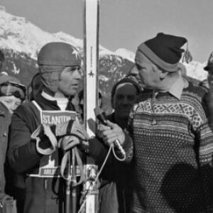 Skirennen in St. Anton am Arlberg / Oskar Spang von Spang, Oskar