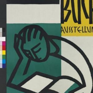 Ankündigungsplakat für Buchausstellung / Josef Hofer von [Hersteller nicht ermittelbar]
