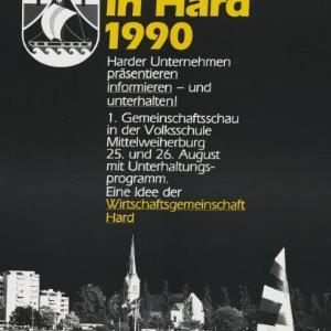 Werbeplakat der Wirtschaftsgemeinschaft Hard / Rudolf Tronje Hagen; Vorarlberger Grafik ; Wirtschaftsgemeinschaft Hard von [Hersteller nicht ermittelbar]