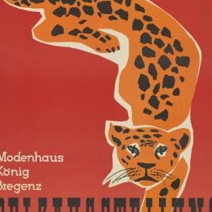 Werbeplakat des Modenhaus König in Bregenz / Albert Heider; Vorarlberger Graphik ; Modenhaus König, Bregenz von Vorarlberger Graphische Anstalt