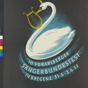 Veranstaltungsplakat des Vorarlberger Sängerbundes / Othmar Motter, Vorarlberger Grafik ; Vorarlberger Sängerbund von Vorarlberger Graphische Anstalt