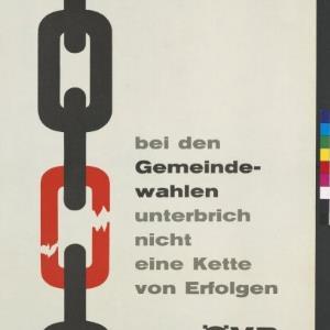 Wahlplakat der Österreichischen Volkspartei / Rudolf Tronje Hagen, Vorarlberger Grafik ; Österreichische Volkspartei, Landesleitung Vorarlberg von [Hersteller nicht ermittelbar]