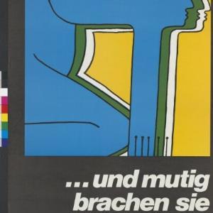 Plakat des Verlags 'Die Quelle' Feldkirch / Josef Hanser von Vorarlberger Graphische Anstalt