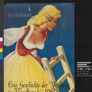Plakat für das Wirtschaftsarchiv Vorarlberg / Georg Vith, Dornbirn; Original Plakat Willy Kriegl ; Wirtschaftsarchiv Vorarlberg von Vorarlberger Graphische Anstalt
