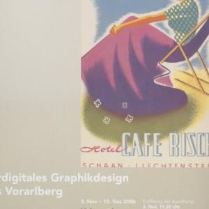 Plakat für das Wirtschaftsarchiv Vorarlberg / motterdesign; Original: Josef Hofer, 1950er ; Wirtschaftsarchiv Vorarlberg von [Hersteller nicht ermittelbar]