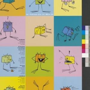 Plakat für Kinder-Theater-Festival Bühne WUK Wien / Erich Wiener (Agentur Wiener Grafik u. Design GmbH) ; Verein zur Schaffung offener Kultur- und Werkstättenhäuser, 1090 Wien von Buchdruckerei Lustenau