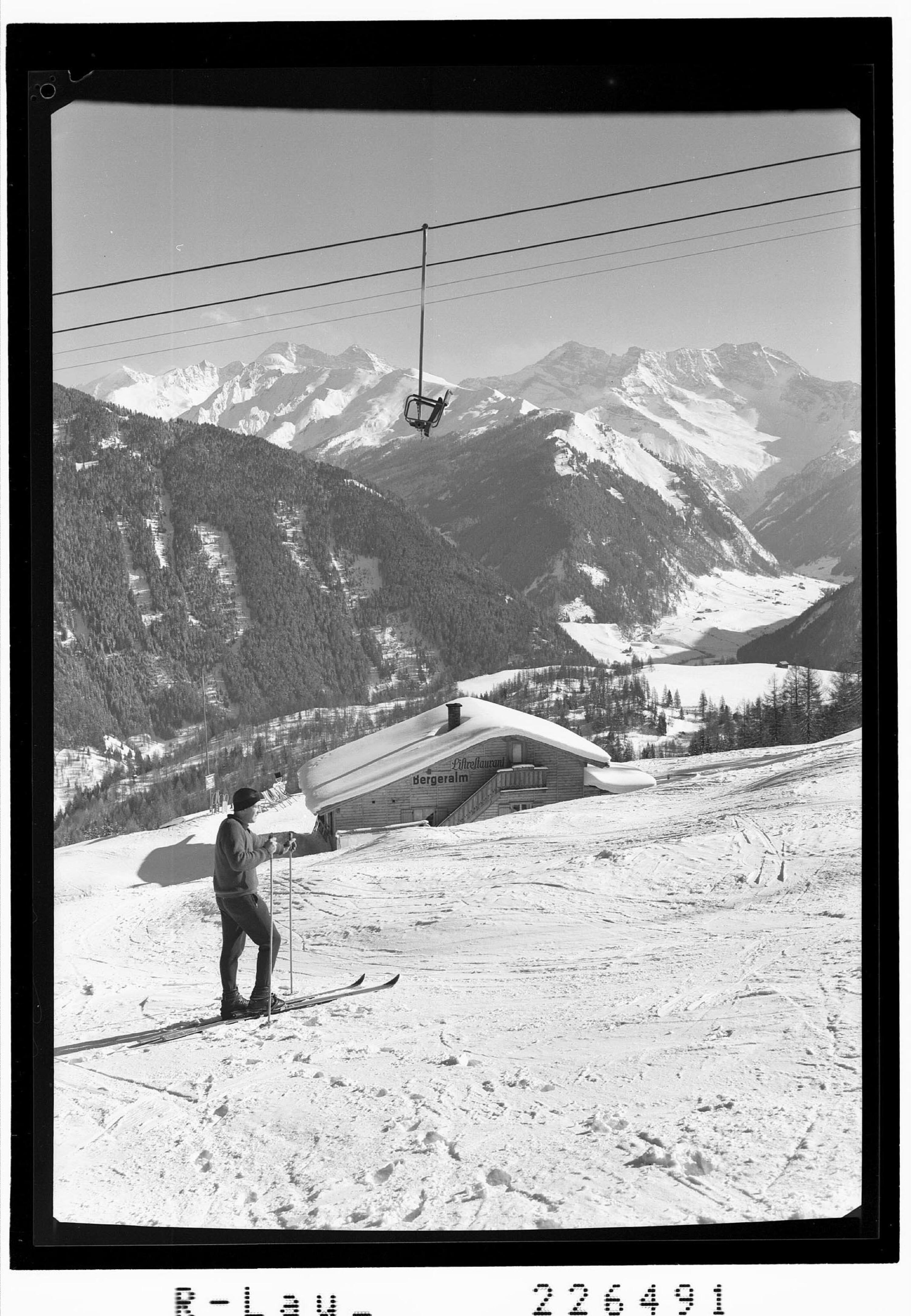 Steinach am Brenner / Bergeralm 1600 m gegen Olperer und Fußstein von Wilhelm Stempfle