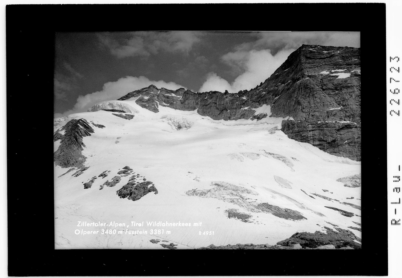 Zillertaler Alpen / Tirol / Wildlahnerkees mit Olperer 3480 m und Fußstein 3381 m von Wilhelm Stempfle