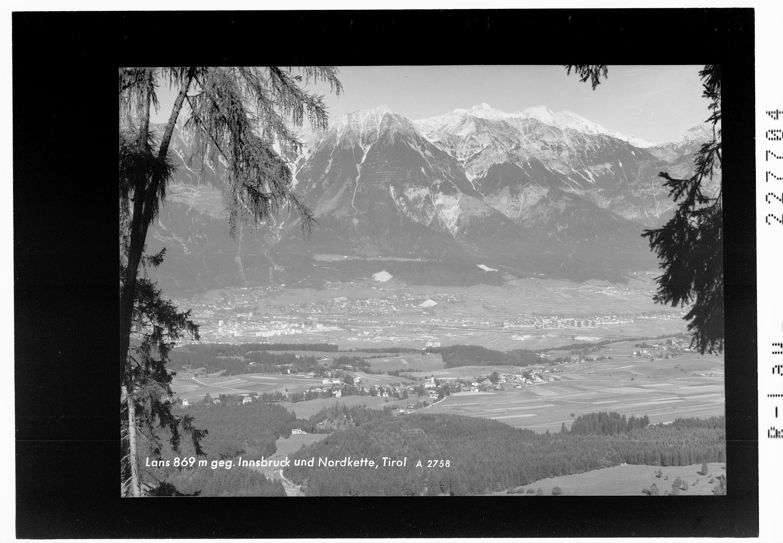 Lans 869 m gegen Innsbruck und Nordkette / Tirol von Wilhelm Stempfle