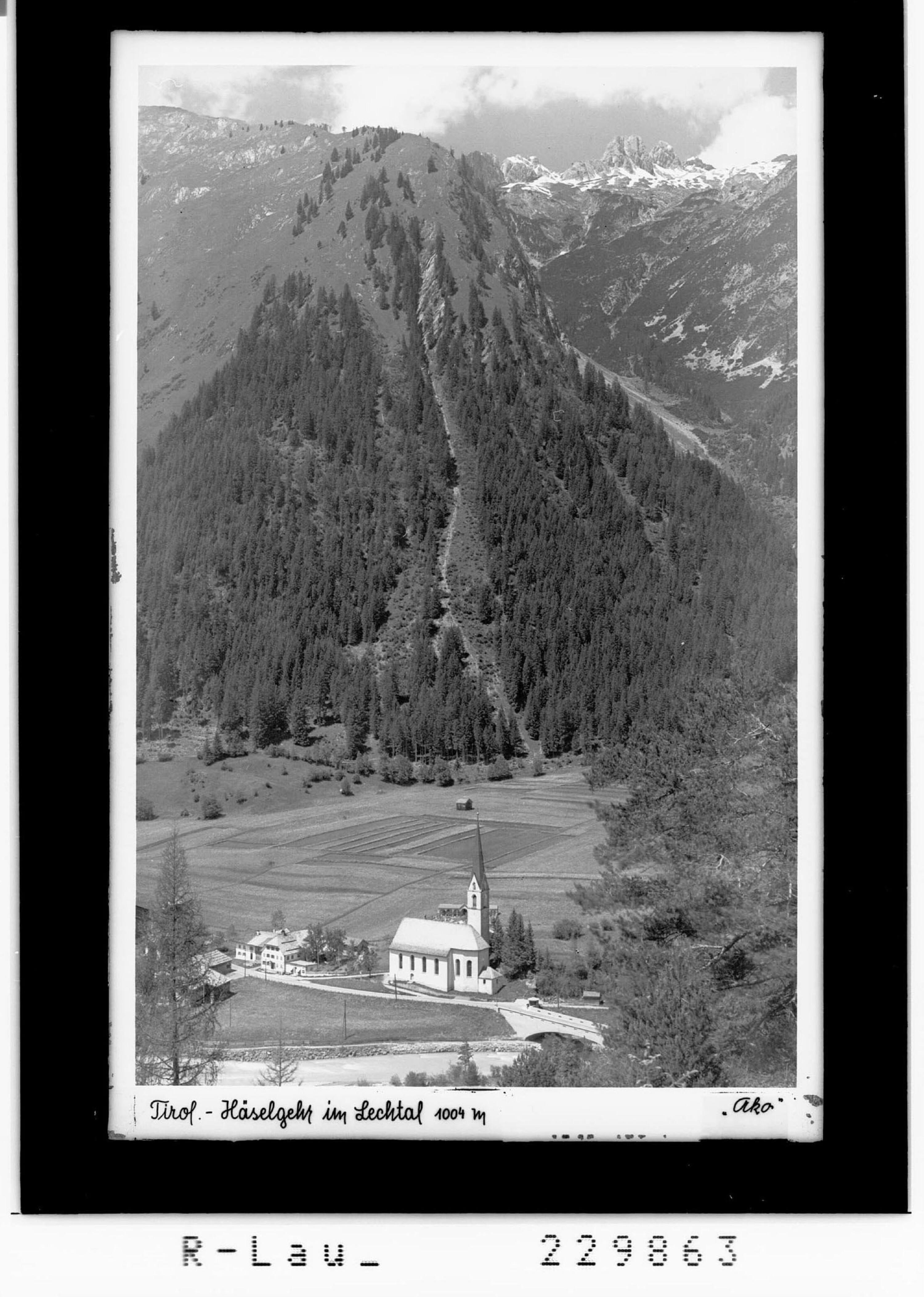 Tirol / Häselgehr im Lechtal 1004 m von Kohlbauer