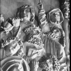 Kunst in Österreich - Detail aus dem spätgotischen Schnitzaltar in Mauer bei Melk, Niederösterreich von Häusle, ...