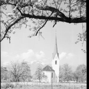 Gisingen / Kirche mit Hohem Kasten / Vorarlberg von Rhomberg