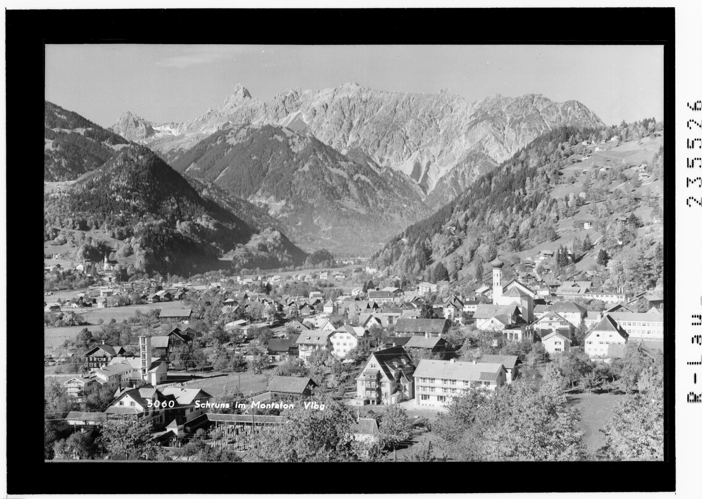 Schruns im Montafon / Vorarlberg von Rhomberg
