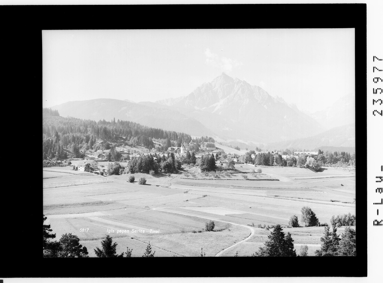 Igls gegen Serles / Tirol von Rhomberg