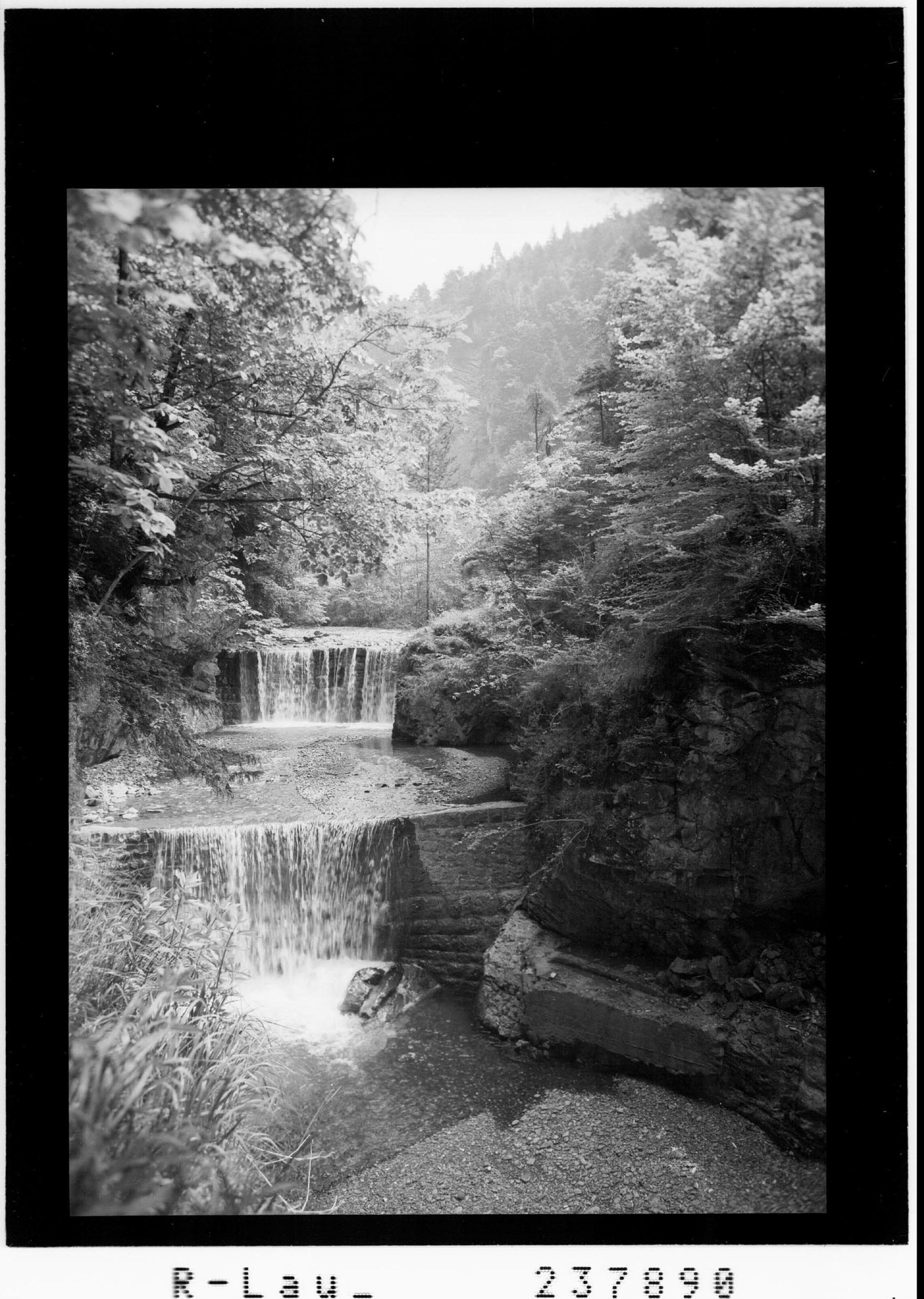 Wasserfälle im Frödischtal bei Röthis von Rhomberg