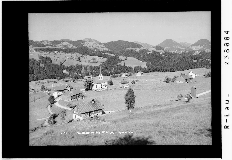 Müselbach im Bregenzer Wald gegen Lingenau / Vorarlberg von Rhomberg