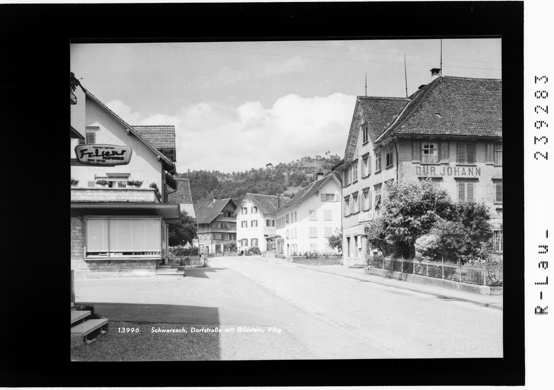 Schwarzach / Dorfstraße mit Bildstein / Vorarlberg von Rhomberg