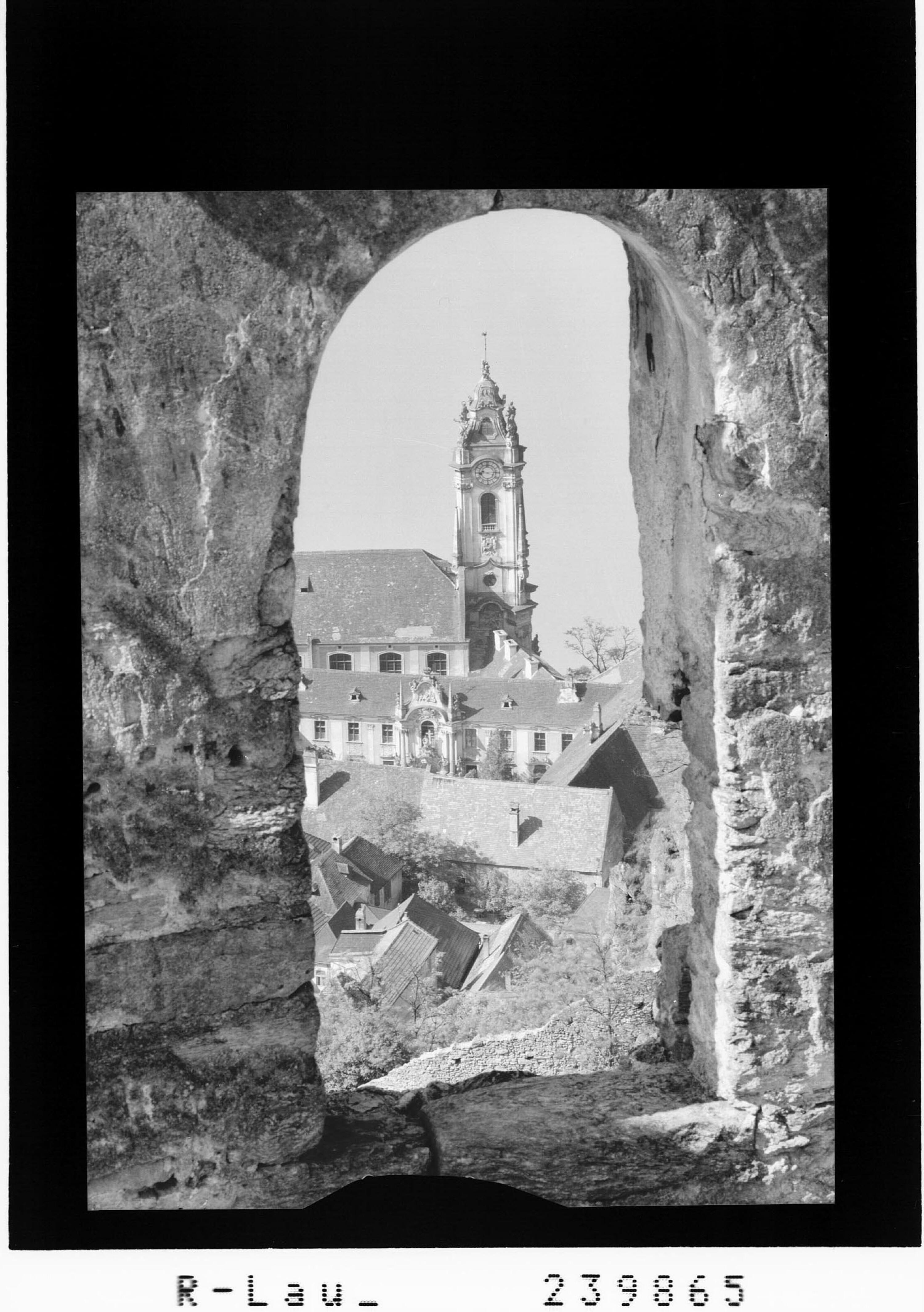 Blick auf Stift Dürnstein in Dürnstein / Wachau / Niederösterreich von Rhomberg