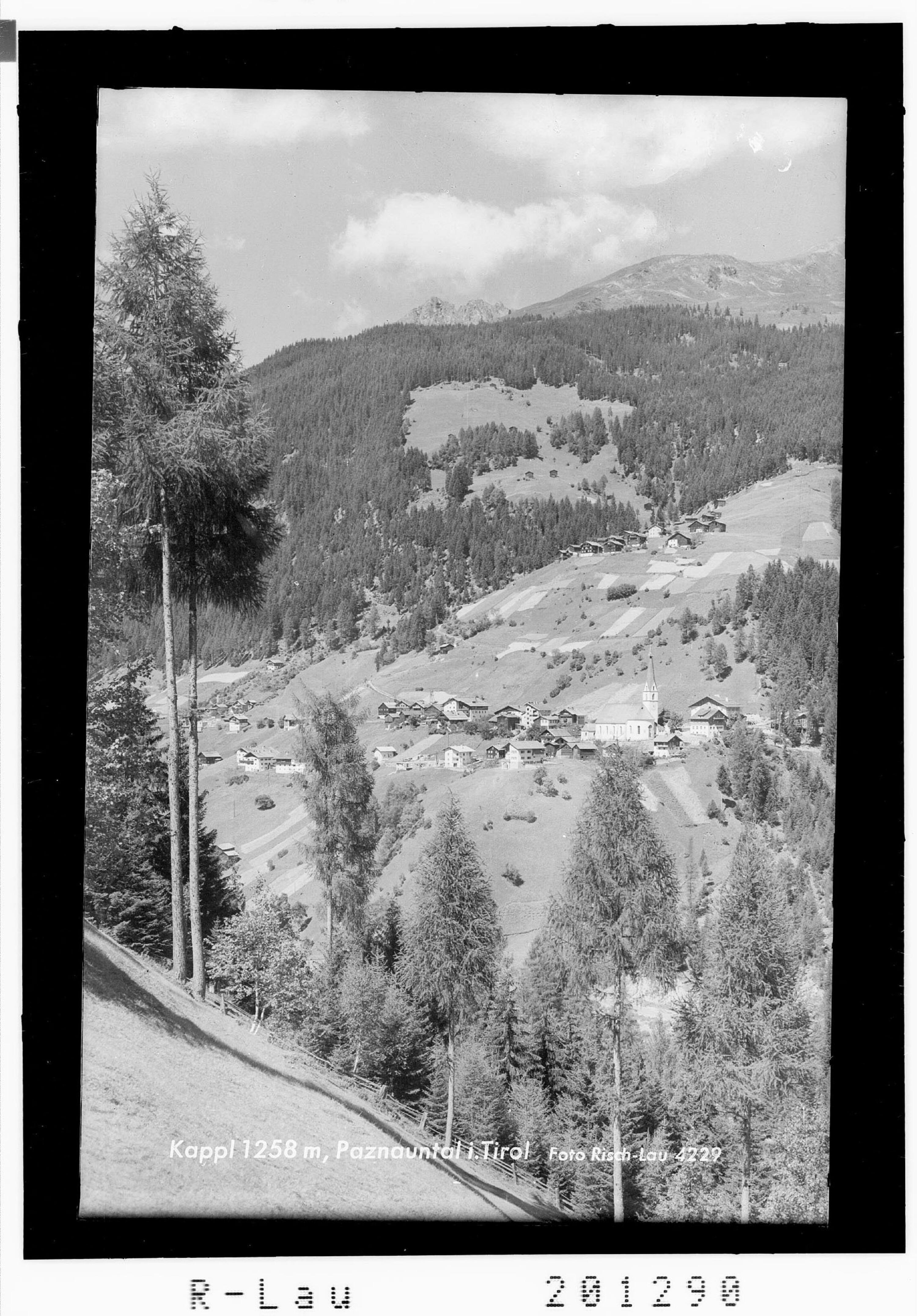 Kappl 1258 m, Paznauntal in Tirol von Risch-Lau