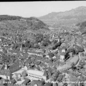 Feldkirch Vorarlberg gegen Ardetzenberg von Risch-Lau