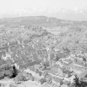 Feldkirch in Vorarlberg gegen Hohen Kasten von Risch-Lau