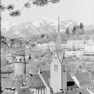 Feldkirch Vorarlberg gegen Hohen Kasten von Risch-Lau