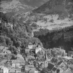 Feldkirch Vorarlberg gegen Gurtisspitze von Risch-Lau