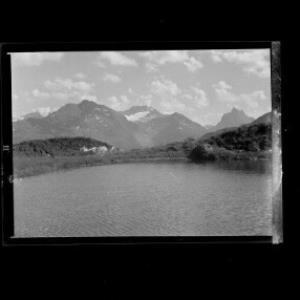 Maiensee gegen Verwallgruppe mit Kuchenspitze und Patteriol von Risch-Lau