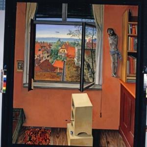 """""""Das Fenster"""" - Wacker Gemälde / Helmut Klapper von Klapper, Helmut"""