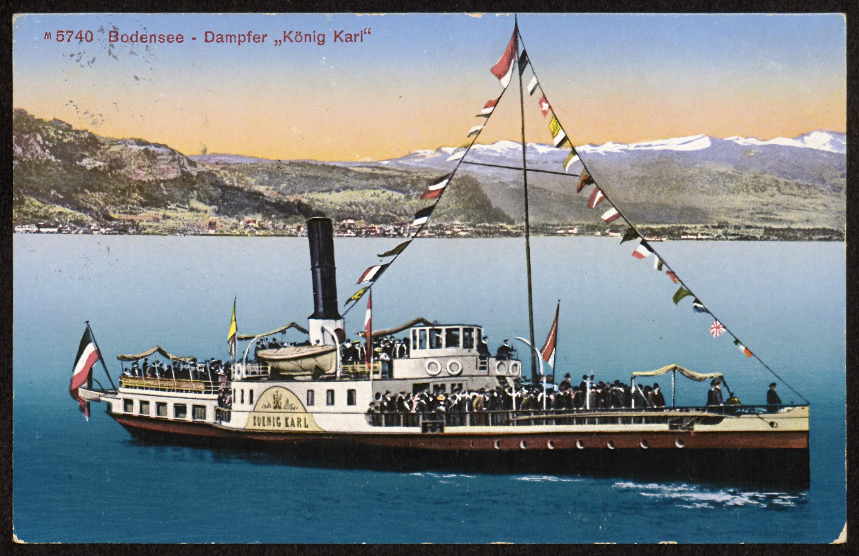 """Bodensee - Dampfer """"König Karl"""" von Photoglob"""