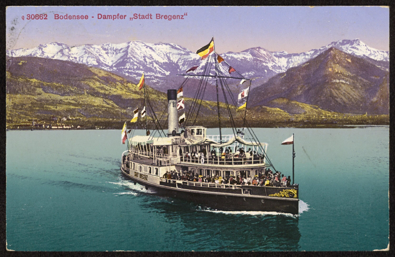 """Bodensee - Dampfer """"Stadt Bregenz"""" von Vereinigte Kunstanstalten"""
