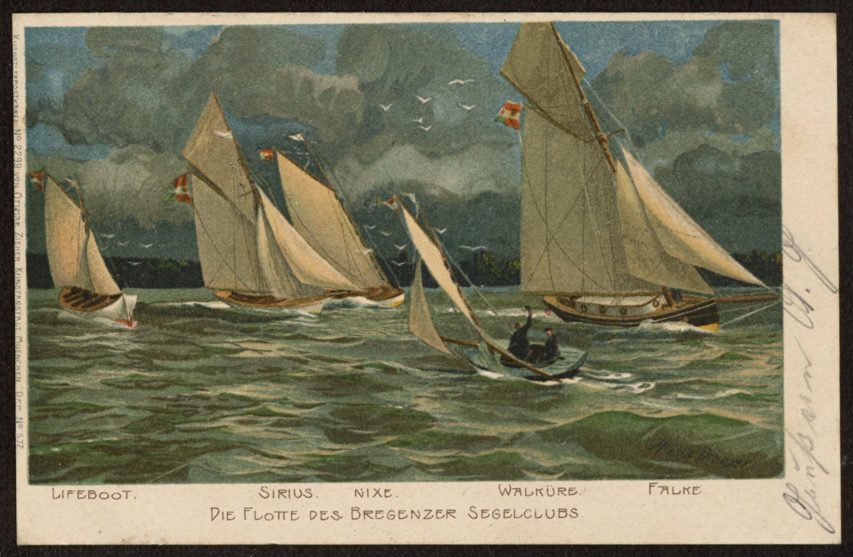 Die Flotte des Bregenzer Segelclubs / M. Zeno Diemer von Zeno Diemer, Michael