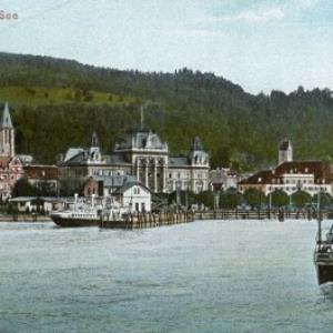 Bregenz vom See von Schwarz