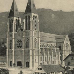 Bregenz am Bodensee (396 m) - Herz Jesu-Kirche von Stengel u. Co.