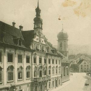 Bregenz - Rathausstraße von Verlag der Wagner'schen Buchhandlung, Webering