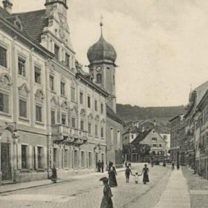 Bregenz a. Bodensee - Stadtplatz u. Rathaus von Stengel u. Co.