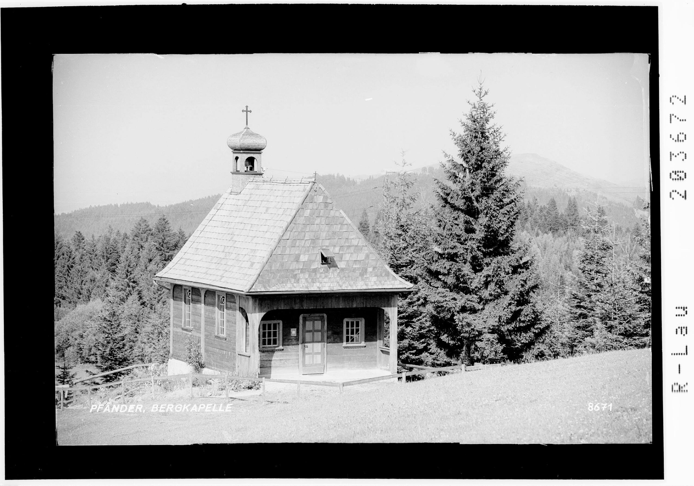 Pfänder / Bergkapelle von Risch-Lau