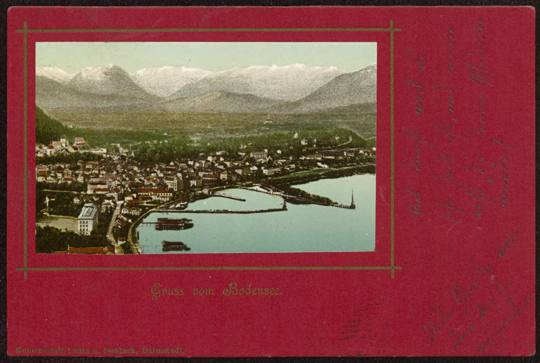 Bregenz Gruss vom Bodensee von Lautz u. Isenbeck