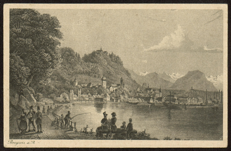 Bregenz a. B. / Gezeichnet von K. Corradi von Corradi, Konrad