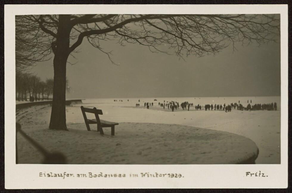 Eislaufen am Bodensee im Winter 1929 / Fritz von Fritz, ...