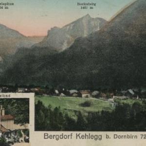 Bergdorf Kehlegg b. Dornbirn 723 m ü. M. von Atelier, Heim