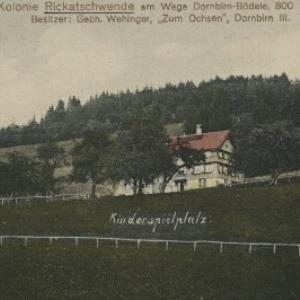Privat-Kolonie Rickatschwende am Wege Dornbirn-Bödele, 800 m ü. d. M. von Atelier, Heim
